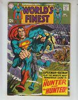 "World's Finest 181 VG+ (4.5) 12/69 Batman & Superman: ""The Hunter & the Hunted!"""