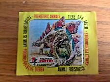 Panini trade cards stickers: sealed unopened pack: Prehistoric Animals 1977