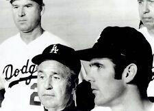 1970 UPI Wire Photo LA Dodgers baseball Walter Alston, Bill Singer & Wes Parker