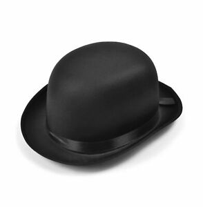 New Adults Bowler Hat Black Satin Finish High Quality Hat