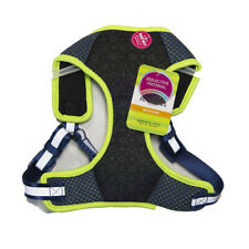 Top Paw Comfort Dog Harness Blue/Green Reflective - M