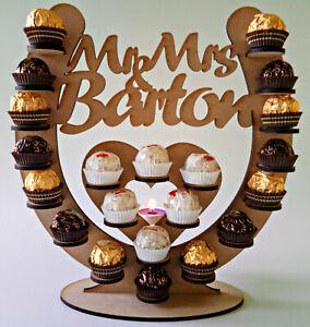 Personalised Horseshoe Ferrero Rocher Wedding Display Stand