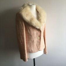 Planet Pink Wool Blend Tweed Boucle Jacket 10