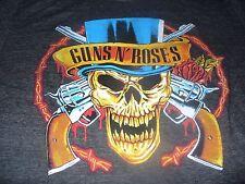 Guns N Roses Men's KO Rock N Roll Bravado Vintage Skull Black T-Shirt 2XL