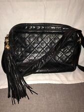 Authentic Vintage Chanel Medium Leather Camera Shoulder Bag Diamond Stitch