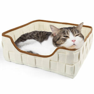 Warming Pet Bed For Cats Dogs Reversible Coral Fleece Sleeping Mat Cushion Nest