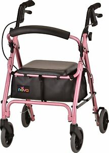 Nova GetGO Petite Foldable Rolling Mobility Walker Rollator - 4 COLOR CHOICE NEW