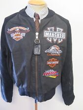 "VANSON Leathers Veste Moto équipe Mancuso Harley Davidson XL 46"" Euro 56"