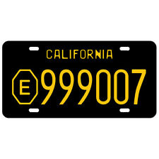 EMERGENCY SQUAD 51 TV SHOW LICENSE PLATE 1972 CALIFORNIA AMBULANCE PARAMEDIC