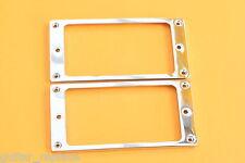 Par Marcos Metal Pastilla Humbucker Cromadas Humbucker Pickup Frame Pair Chrome