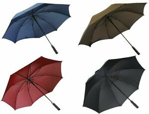 Windproof 10 Ribs Strong Automatic Open Close Folding Umbrella Compact Travel UK