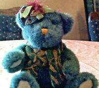 """Bear Plush by Dan Dee Victorian Christmas Style  Wined-Up Musical   12"""" Tall"""