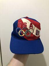 Vintage USA 1996 Olympics Mulit Color Block Big Logo Spellout Snapback Hat Cap