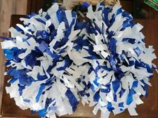 1 pair Blue And White High School Cheerleading Pom Poms shed