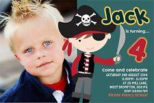 Invitations Personnalisées Anniversaire Pirate x 5
