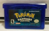 Gameboy Advance Pokemon Sapphire Version AUTHENTIC TESTED WORKING FREE SHIPPING