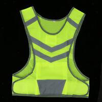 Sicherheits Warnweste Reflektorweste Weste Mit LED Licht Für Joggen Radsport
