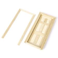 1:12 Dollhouse Miniature Kits Wooden 6-Panel Fairy Doors Open Inwardly