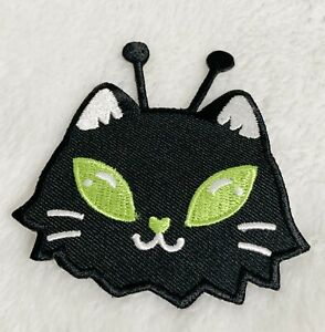 Loungefly, Alien Kitty Cat Embroidered Iron On Patch, 2.75 x 2.75 Inches
