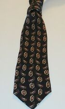 TRUMP Arrow Black 100% Silk 62 Inches Geometric Men's Necktie