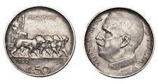 ITALIA Vittorio Emanuele III 50 Centesimi 1920 Leoni - Contorno rigato