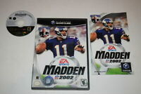 Madden NFL 2002 Nintendo GameCube Video Game Complete
