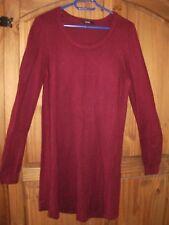 Ladies Long Sleeved BurgundyJumper Dress Size 14