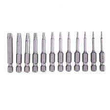 12PCS Security Bit Set Tamper Proof Screw Driver Drill Bit Hex Torx Flat Head