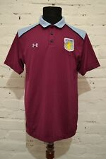 ASTON VILLA POLO FOOTBALL SHIRT SOCCER JERSEY PRE MATCH MENS L UNDER ARMOUR