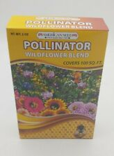 American Seed Wildflower Blend, Pollinator Mix Non Gmo Seeds Covers 100 Sqft