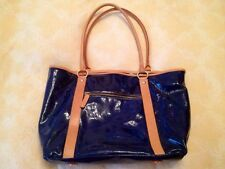 Navy Patent Leather Cavalcanti Tote Handbag. New No Tag.