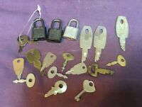 * Lot with 3 Miniature Padlocks and a Group of Miniature Keys