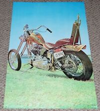 HARLEY DAVIDSON CHOPPER Motorcycle Poster 1973 Eurodecor Workshop Garage Shop