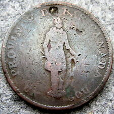 CANADIAN PROVINCES LOWER CANADA 1837 1/2 PENNY - 1 SOU CITY BANK TOKEN, COPPER