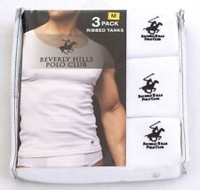 08c7a4e8 3 Pack Beverly Hills Polo Club Mens Ribbed White Tanks Top Size Medium