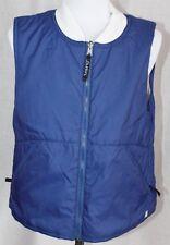 Womens BURTON Heaters Reversible Winter Vest Medium Blue White