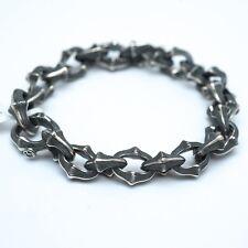 New DAVID YURMAN Men's 14mm Silver Armory Link Bracelet Large NWT