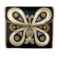 100% Authentic Anna Sui Butterfly Embroidery Wallet
