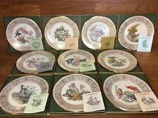 10 Lenox Boehm Bird Set of Collector Plates Limited Ed. Org. Boxes w/Coas (2586)