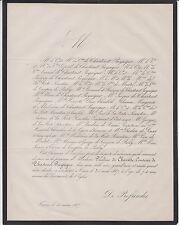 FAIRE-PART DÉCÈS PAULINE DE CHARITTE, COMTESSE DE CHASTENET-PUYSÉGUR 1867 TOURS
