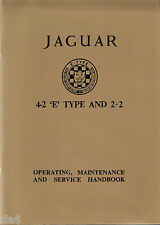 Jaguar E Type 4.2 Litre Series 1 Tourer and 2+2 Owners Handbook *NEW