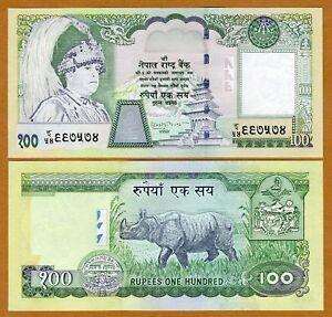 Nepal, 100 Rupees, ND (2002), P-49, Sign 15 UNC > Rhino, King Gyanedra