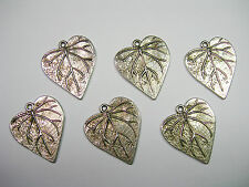 Silver plated Leaf Drops Charms Pendant - 6