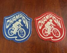Vintage cycle bycicle champion patches badge (2)