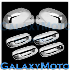 02 09 Gmc Envoy Chrome Mirror 4 Door Handle W O Penger Keyhole Cover Combo Fits 2005 Trailblazer