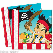 20 Jake And The Never Land Pirates Party Disposable 33cm Paper Napkins