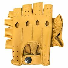 New Retro Real Leather Men Fingerless Driving cycle Gloves Unlined Chauffeur 309
