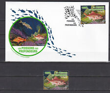 Polynesie 2019 Nature Fish from abysses Poissons Etelis FDC + stamp MNH Luxe**