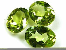 TWO PCS - 6 mm Peridot Russian Lab Diamond BRILLIANT CUT (0.8 carat)