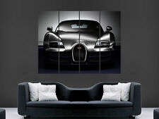 BUGATTI VEYRON SUPERCAR FAST BLACK SPORT ART WALL PICTURE POSTER  GIANT HUGE